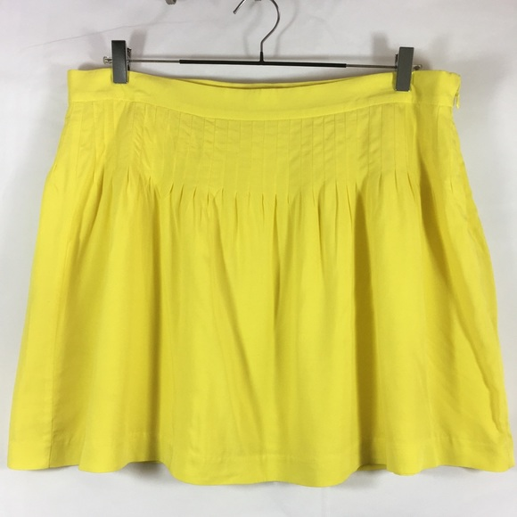 GAP Dresses & Skirts - Gap Soft Pleat Mini Skirt in Bright Yellow